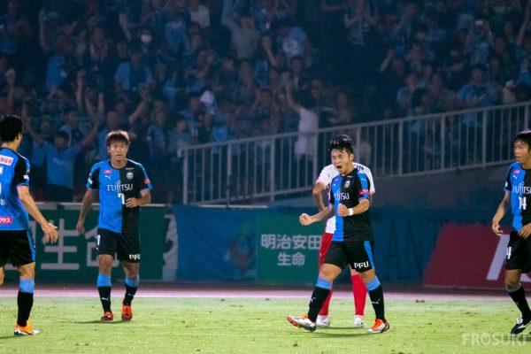 名古屋に勝って首位広島との勝点差は4に。見えた首位の背中。