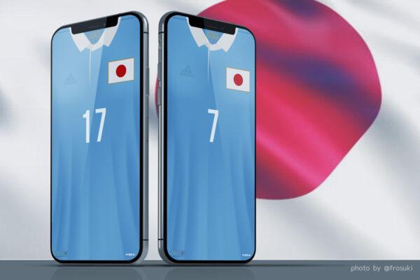 サッカー日本代表100周年アニバーサーリーユニフォーム、スマホロック画